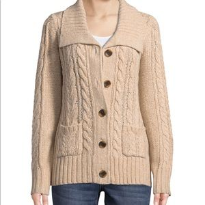 St. John's Brown/Tan Knitted Cardigan.GENTLY WORN.